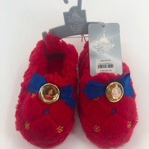 7/8 Disney Store Princess Slippers NWT Red